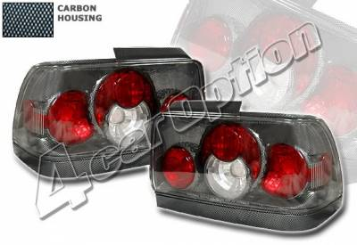 4 Car Option - Toyota Corolla 4 Car Option Altezza Taillights - Carbon Fiber Style - Side - 2PC - LT-TCL93F-YD