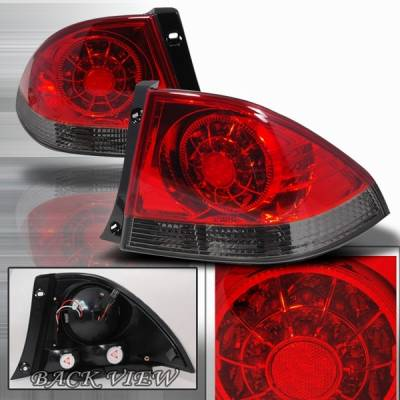 Custom Disco - Lexus IS Custom Disco Red & Smoke LED Taillights - LT-IS30000RGLED