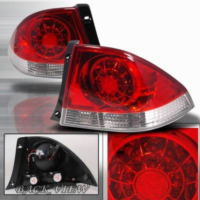 Custom Disco - Lexus IS Custom Disco Red LED Taillights - LT-IS30000RLED