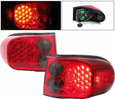 4 Car Option - Toyota FJ Cruiser 4 Car Option LED Taillights - Red & Smoke - LT-TFJC07LEDRSM-9