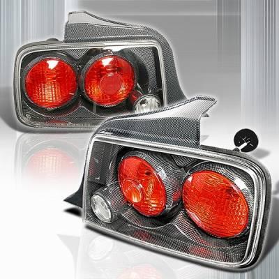Custom Disco - Ford Mustang Custom Disco Carbon Fiber Taillights - LT-MUS05CF-TM