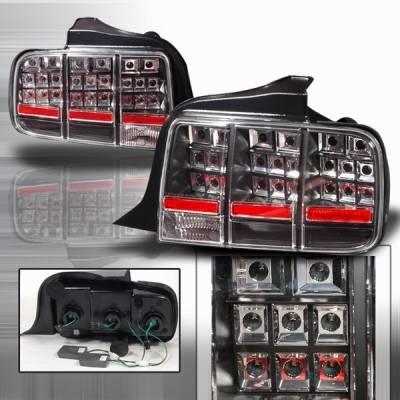 Custom Disco - Ford Mustang Custom Disco Black LED Taillights - LT-MUS05JMLED-KS