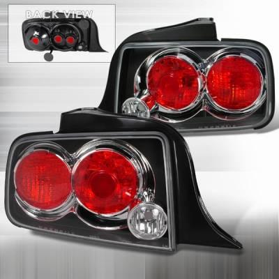 Custom Disco - Ford Mustang Custom Disco Black Altezza Taillights - LT-MUS05JM-TM