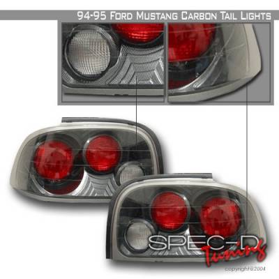 Custom Disco - Ford Mustang Custom Disco Carbon Fiber Altezza Taillights - LT-MUS94CF-YD