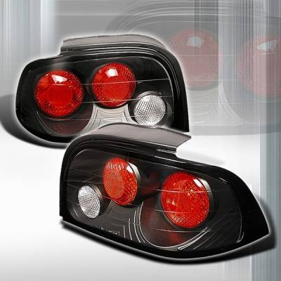 Custom Disco - Ford Mustang Custom Disco Black JDM Taillights - LT-MUS94JM-YD