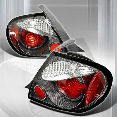 Custom Disco - Dodge Neon Custom Disco Carbon Euro Altezza Taillights - LT-NEO03CF-YD