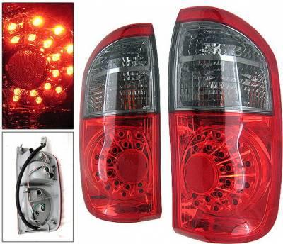4 Car Option - Toyota Tundra 4 Car Option LED OEM Taillights - Red & Smoke - LT-TTUN00LEDRSM-KS