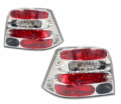 4 Car Option - Volkswagen Golf 4 Car Option Altezza Taillights - Chrome - LT-VG99A-YD