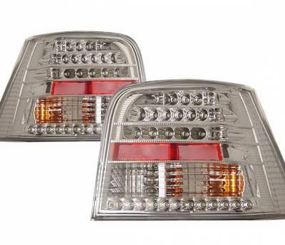 4 Car Option - Volkswagen Golf 4 Car Option LED Taillights - Chrome - LT-VG99LEDC-KS