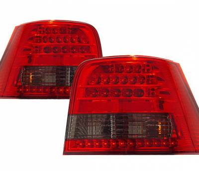 4 Car Option - Volkswagen Golf 4 Car Option LED Taillights - Red & Smoke - LT-VG99LEDRSM-KS