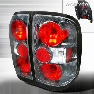 Custom Disco - Infiniti QX-4 Custom Disco Carbon JDM Taillights - LT-QX497CF-TM
