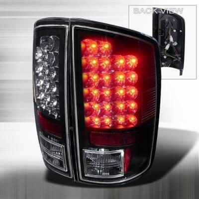 Custom Disco - Dodge Ram Custom Disco Black Euro LED Taillights - LT-RAM02JMLED-YD