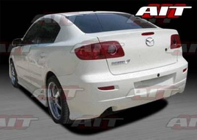 AIT Racing - Mazda 3 4DR AIT KEN Style Rear Bumper - M303HIKENRB4