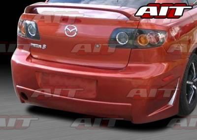AIT Racing - Mazda 3 4DR AIT Zen Style Rear Bumper - M303HIZENRB4