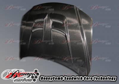 AIT Racing - Mazda 6 AIT Racing Raiden Style Carbon Fiber Hood - M602BMRDNCFH