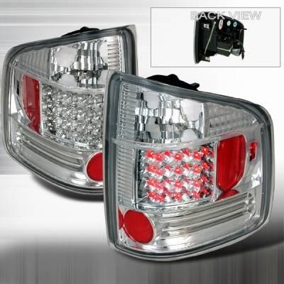 Custom Disco - Chevrolet S10 Custom Disco Chrome LED Taillights - LT-S1094CLED-YD