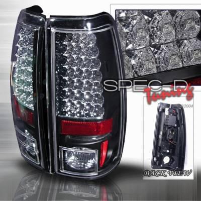 Custom Disco - Chevrolet Silverado Custom Disco Black Euro LED Taillights - LT-SIV03JMLED-YD