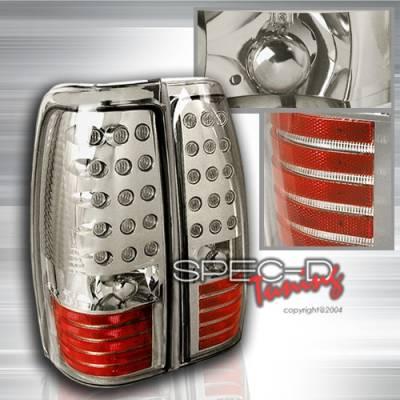Custom Disco - Chevrolet Silverado Custom Disco Chrome LED Taillights - LT-SIV99CLED