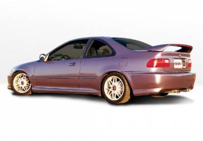 VIS Racing - Honda Civic 2DR VIS Racing Racing Series Left Side Skirt - 890069