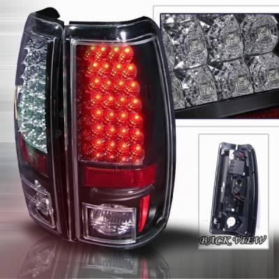 Custom Disco - Chevrolet Silverado Custom Disco Black LED Taillights - LT-SIV99JMLED-YD