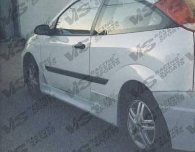 VIS Racing - Ford Focus VIS Racing Omega Side Skirts - 00FDFOC2DOMA-004