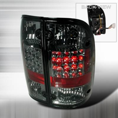 Custom Disco - Toyota Tacoma Custom Disco Smoke LED Taillights - LT-TAC00GLED-YD
