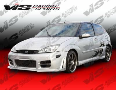 VIS Racing - Ford Focus VIS Racing Stalker-2 Side Skirts - 00FDFOC2DSTK2-004