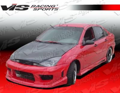 VIS Racing - Ford Focus VIS Racing Striker Side Skirts - 00FDFOC2DSTR-004