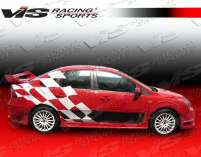 VIS Racing - Ford Focus 4DR VIS Racing Fuzion Side Skirts - 00FDFOC4DFUZ-004