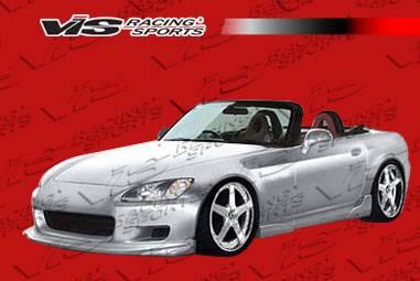 VIS Racing - Honda S2000 VIS Racing Vader Side Skirts - Polyurethane - 00HDS2K2DVAD-004P