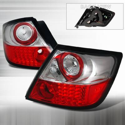 Custom Disco - Scion tC Custom Disco Red & Clear LED Taillights - LT-TC04RLED