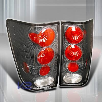 Custom Disco - Nissan Titan Custom Disco Carbon Altezza Taillights - LT-TIT04CF-YD