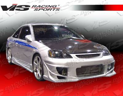 VIS Racing - Honda Civic 2DR VIS Racing Ballistix Side Skirts - 01HDCVC2DBX-004