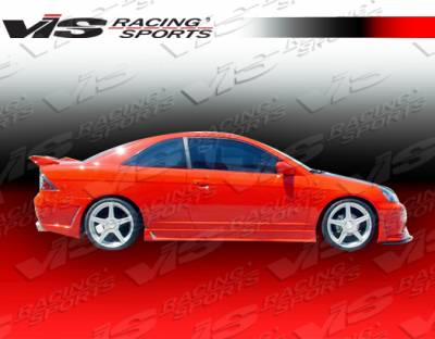 VIS Racing - Honda Civic 2DR VIS Racing TSC-3 Side Skirts - 01HDCVC2DTSC3-004