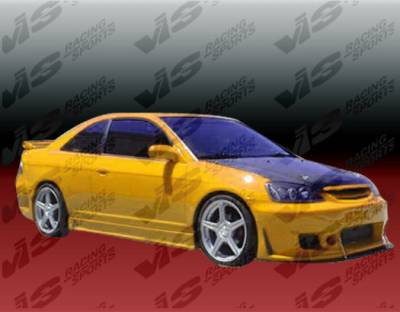 VIS Racing - Honda Civic 4DR VIS Racing TSC-3 Side Skirts - 01HDCVC4DTSC3-004