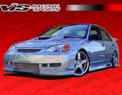 VIS Racing - Honda Civic 4DR VIS Racing Z1 boxer Side Skirts - 01HDCVC4DZ1-004