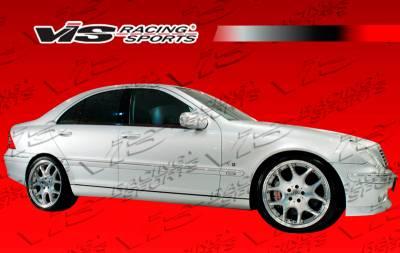 VIS Racing - Mercedes-Benz C Class VIS Racing B-Spec Side Skirts - 01MEW2034DBSC-004