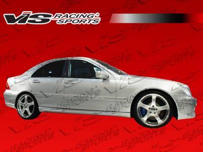 VIS Racing - Mercedes-Benz C Class VIS Racing C-Tech Side Skirts - 01MEW2034DCTH-004
