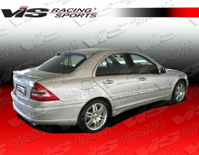 VIS Racing - Mercedes-Benz C Class VIS Racing Laser Side Skirts - 01MEW2034DLS-004