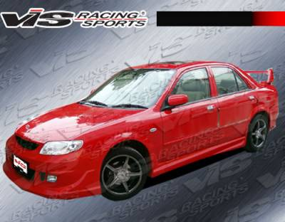 VIS Racing - Mazda Protege VIS Racing Fuzion Side Skirts - 01MZ3234DFUZ-004