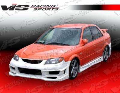 VIS Racing - Mazda Protege VIS Racing Tranz Side Skirts - 01MZ3234DTZ-004