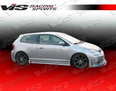 VIS Racing - Honda Civic HB VIS Racing TSC-3 Side Skirts - 02HDCVCHBTSC3-004