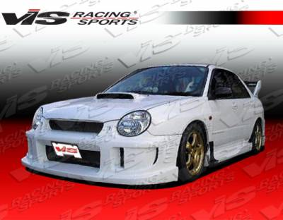 VIS Racing - Subaru WRX VIS Racing Alfa Side Skirts - 02SBWRX4DALF-004