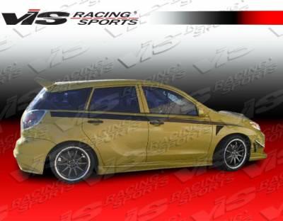 VIS Racing - Toyota Matrix VIS Racing EVO-5 Side Skirts - 02TYMAT4DEVO5-004