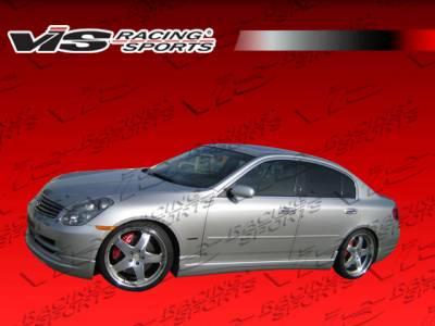 VIS Racing - Infiniti G35 4DR VIS Racing VIP Side Skirts - 03ING354DVIP-004