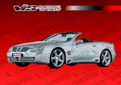 VIS Racing - Mercedes-Benz SL VIS Racing Laser F1 Side Skirts - 03MER2302DLF1-004