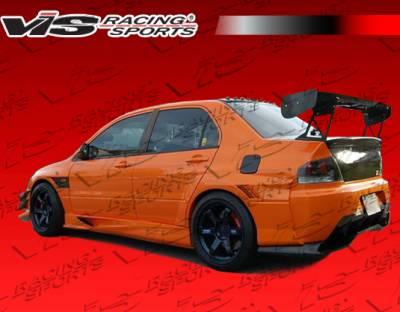 VIS Racing. - Mitsubishi Evolution 8 VIS Racing VTX Widebody Side Skirts - 03MTEV84DVTXWB-004