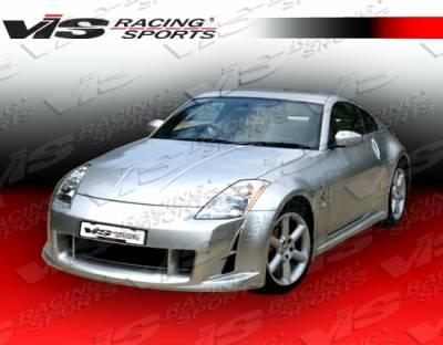 VIS Racing - Nissan 350Z VIS Racing AMS Side Skirts - 03NS3502DAMS-004