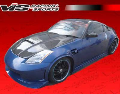 VIS Racing - Nissan 350Z VIS Racing Astek Side Skirts - 03NS3502DAST-004