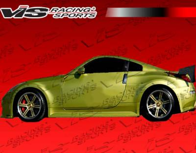 VIS Racing - Nissan 350Z VIS Racing Demon Side Skirts - 03NS3502DDEM-004